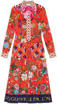 Gucci Patchwork print silk dress
