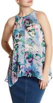 BB Dakota Jayden Sheer Floral Tank (Plus Size)