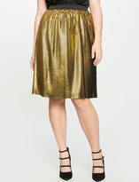 ELOQUII Plus Size Pleated Foil Skirt