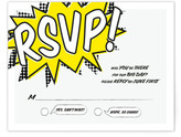 Minted A Comic Book Love Story RSVP Cards