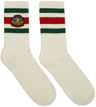 Gucci White Rainbow Eagle Socks