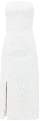Halpern Sequinned Bustier Midi Dress - White