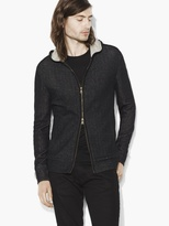 John Varvatos Double Face Zipped Hoody
