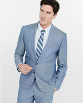 Express blue oxford cloth producer suit jacket