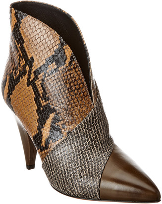 Isabel Marant Archenn Snake-Embossed Leather Ankle Boot