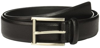 Calvin Klein 35mm Belt w/ Roller Bar Harness Buckle (Black) Men's Belts