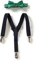 Starting Out Baby Boys Mallard Print Bow Tie & Suspender Set