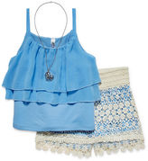 Knitworks Knit Works 3-Piece Tank and Shorts Set with Necklace - Girls 7-16 and Plus