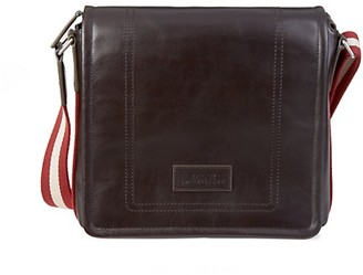 Bally Terlago Stripe-Strap Leather Crossbody Bag