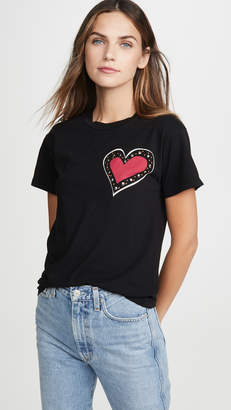 Monogram Heart With Studs Tee