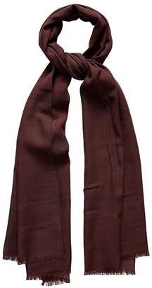 Eton Burgundy Fine Woven Wool Scarf