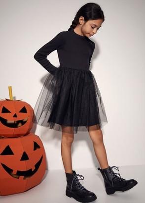 MANGO Lace combined dress