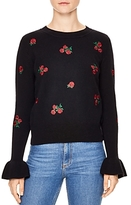 Sandro Ingrid Embroidered Wool Sweater