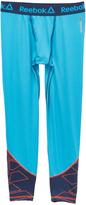 Reebok Power Blue Geometric Compression Pants - Boys