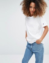 Champion Oversized T-Shirt With Woven Sleeve Logo
