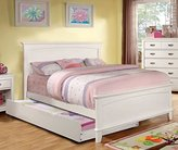 Colin Transitional White Full Size Bed w/ Trundle