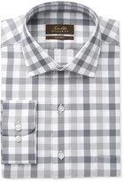 Tasso Elba Men's Classic-Fit Non-Iron Gray Mega Gingham Dress Shirt, Created for Macy's