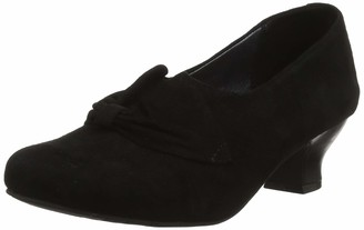 Hotter Donna Women's Closed-Toe Pumps Closed Toe Heels Black (Jet Black 026) 6.5 UK (40 EU)