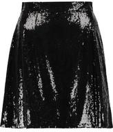 Dolce & Gabbana Sequined Mesh Mini Skirt