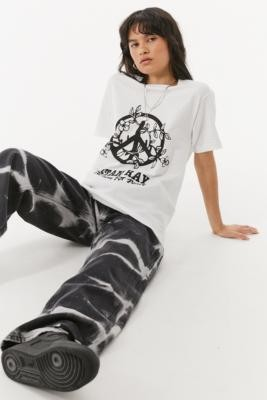 Stan Ray Action For Peace T-Shirt - White S at Urban Outfitters