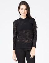Kindersalmon Black Knit Top