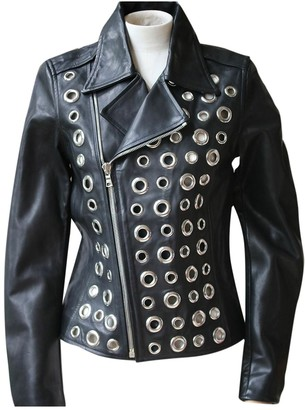 RtA Black Leather Jacket for Women