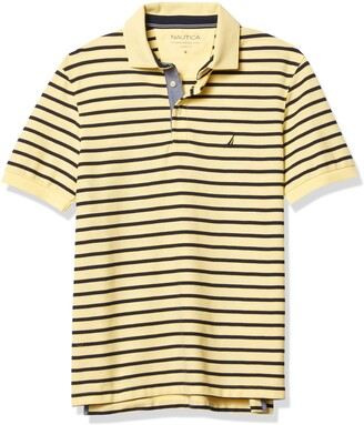 Nautica Men's Classic Fit Performance Stripe Polo
