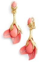 Oscar de la Renta Women's Magnolia Clip Earrings