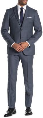 John Varvatos Bedford Sharkskin Jacket & Pants 2-Piece Trim Fit Suit