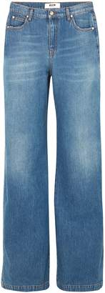 MSGM High-rise Wide-leg Jeans
