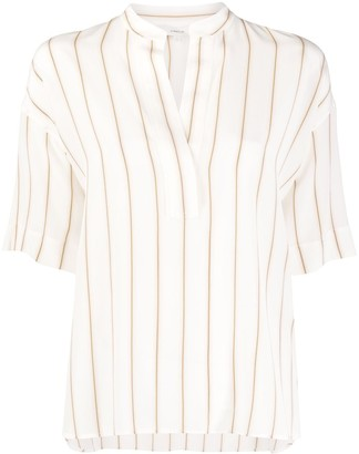 Vince striped silk T-shirt