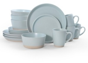 Pfaltzgraff hudson blue 16 pc dinnerware set, service for 4