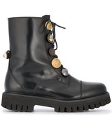Dolce & Gabbana biker boots with button embellishment