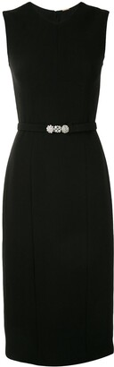Adam Lippes Crystal Belt Wool Dress