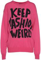 Jeremy Scott Keep Fashion Weird-intarsia Wool Sweater