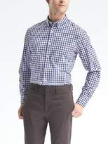 Banana Republic Grant-Fit Custom-Wash Gingham Shirt