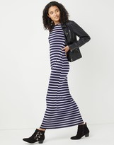 Boohoo Striped Cut Away Maxi Dress
