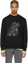Lanvin Black Car & Flowers Pullover