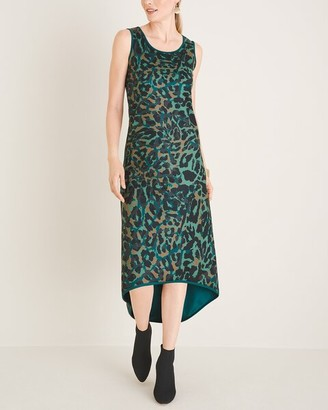 Chico's Animal-Print High-Low Hem Dress