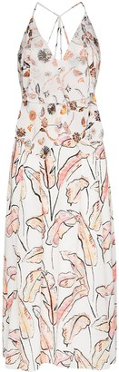 Roland Mouret Tolima ruffled floral print dress