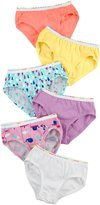 Red Label Hanes TAGLESS Toddler Girls' Pre-Shrunk Cotton Hipsters 6-Pack, Size