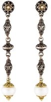 Konstantino Two-Tone Pearl & Diamond Drop Earrings