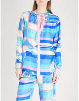 Emilio Pucci Abstract seaside-print silk blouse