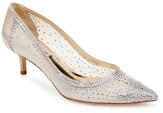 Badgley Mischka Emi Embellished Pointed Toe Pump