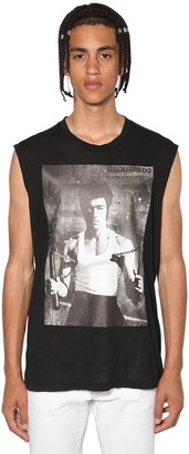 DSQUARED2 Sleeveless Lee Printed Jersey T-Shirt