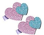 Botrong Baby Girl Hair Clips Infant Kids Heart Pattern Plastic Hair Accessories (Hot Pink)