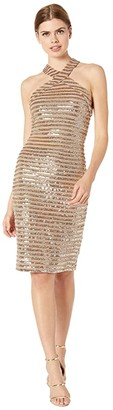 Trina Turk Melody Dress (Champagne) Women's Clothing