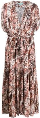 Melissa Odabash Aria bohemian snake-print dress