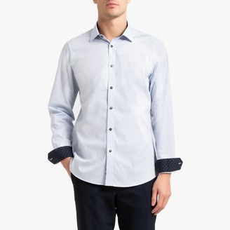 La Redoute Collections Slim Fit Shirt with Polka Dot Detail