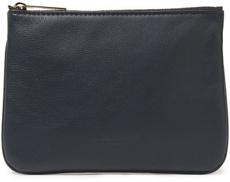 Balmain Pebbled-leather Pouch